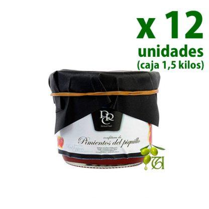 confitura de pimientos de piquillo real carolina tarro 125 g x 12 uds