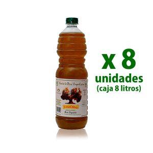 Aceite Linaoliva sin filtrar pet 1 l x 8 uds