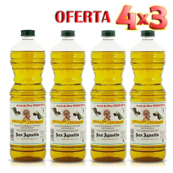 Aceite Linarejos oferta 4 x 3