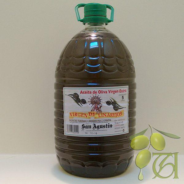 Foto garrafa 5 litros aceite oliva virgen extra linarejos