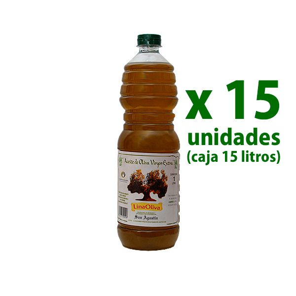 aceite linaoliva sin filtrar pet 1 l x 15 uds