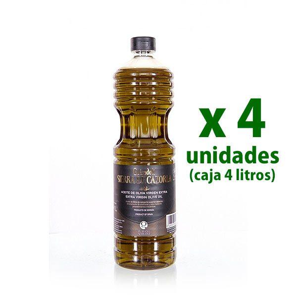 aceite sierra de cazorla oliva virgen extra 1 l x 4 uds