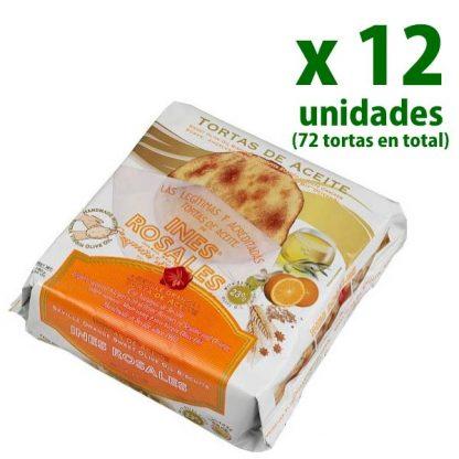 tortas de aceite sabor naranja inés rosales 12 cajas
