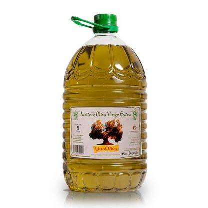 foto garrafa 5 litros aceite de oliva virgen extra linaoliva