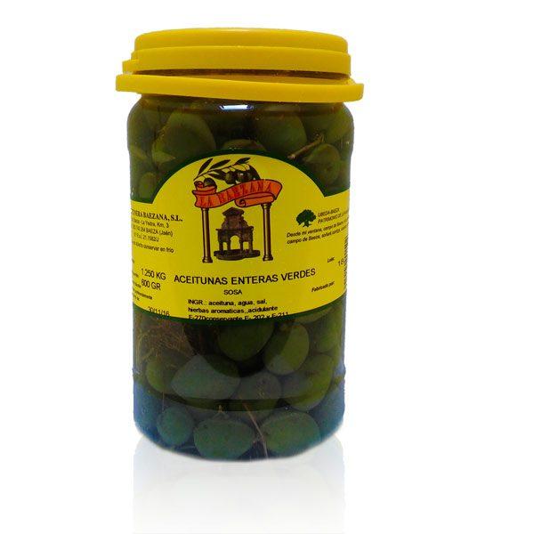 foto aceituna verde entera peso escurrido 600 gr