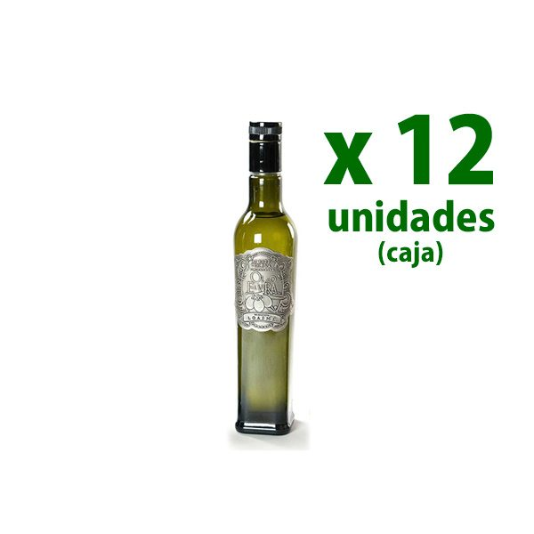 foto botella vidrio 250 ml aceite Oleo Elvira 100% Loaime