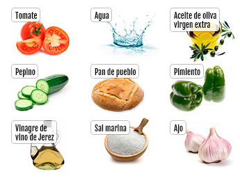 ingredientes del gazpacho